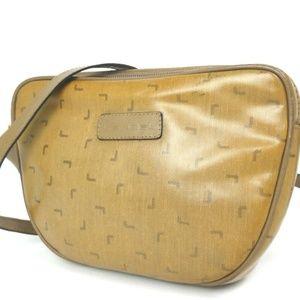 Vintage LANCEL L logo Shoulder Bag PVC Leather